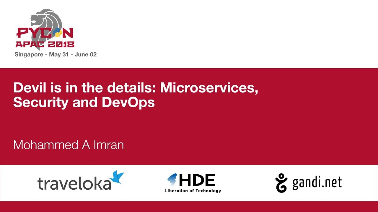 Image from Devil is in the details: Microservices, Security and DevOps
