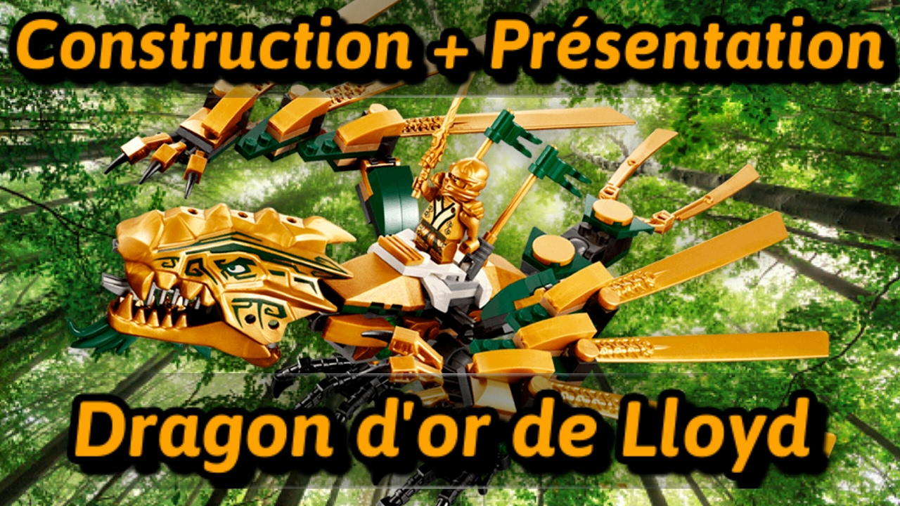 Construction pr sentation du dragon d 39 or de ninjago youtube - Ninjago dragon d or ...