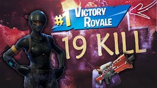 Victoire royale en mode POMPA-Only - 19 Kill a Team - Fortnite Battle Royale
