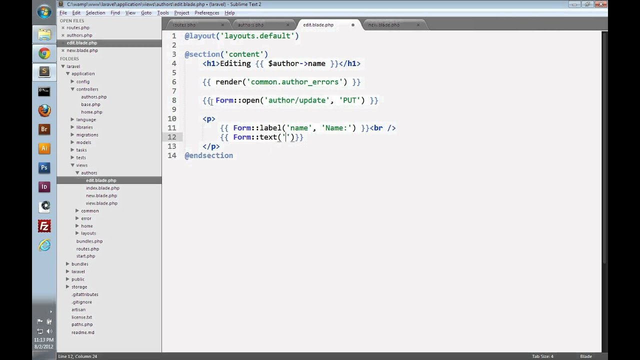 Laravel Tutorial Part 8 - CRUD - Updating Data with Eloquent