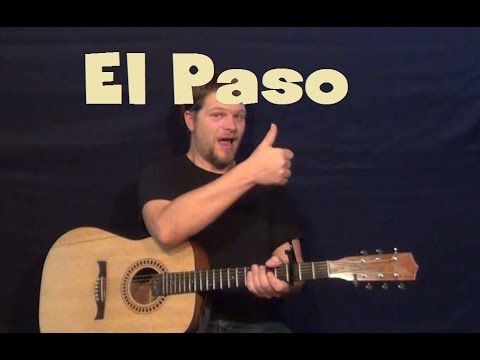El Paso (Marty Robbins) Easy Strum Guitar Lesson How to Play ...