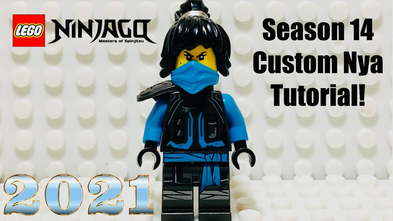 LEGO Ninjago Season 14 Nya Minifigure Tutorial - 2021 Custom Minifigure