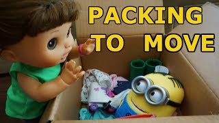 BABY ALIVE Pumpkin Packs To Move With Help From The Boss Baby & Minion Dave!