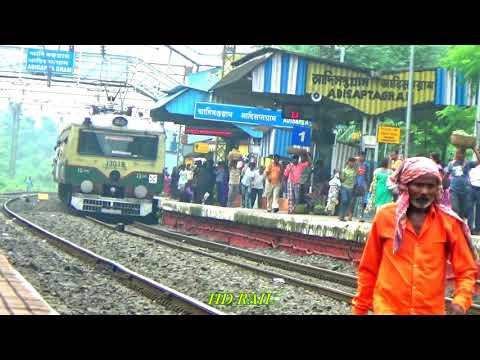 UP Howrah Barddhaman local train entering Adisaptagram railway station