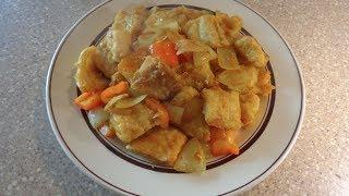Crispy Fish with Lemongrass Curry Sauce