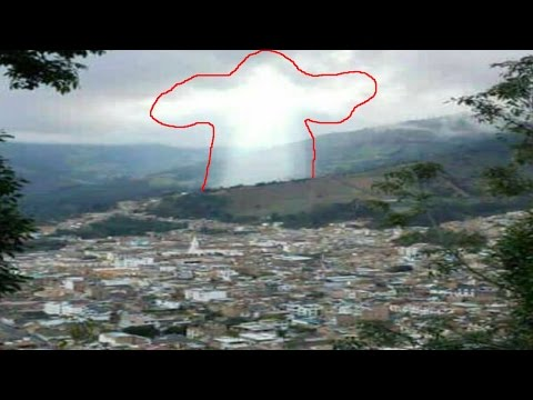 """Figure of Jesus"" Appears over Colombian Town Recently Hit by Major Landslide (2017)"