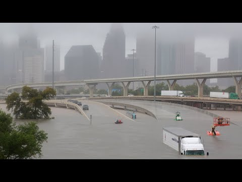 See flooding as Houston battles fallout from storm