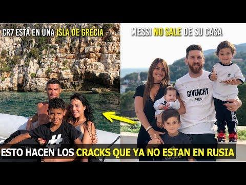 MIRA LO QUE HACEN LOS CRACKS ELIMINADOS DEL MUNDIAL, CR7 SE FUE PARA GRECIA,MESSI NO SALE DE SU CASA