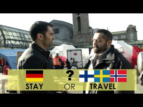 الوصول  الى  هامبورغ Refugee Welcome Films - Hamburg - Arabisch