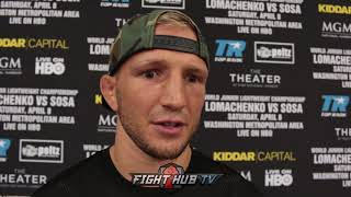 TJ DILLASHAW SAYS DEMETRIOUS JOHNSON DIDN'T WANT TO MAN UP & FIGHT! TALKS SPARRING LOMACHENKO