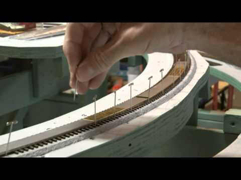 Modelling Railway Train Track Plans -Super Elevation method -HO Scale Flex Track