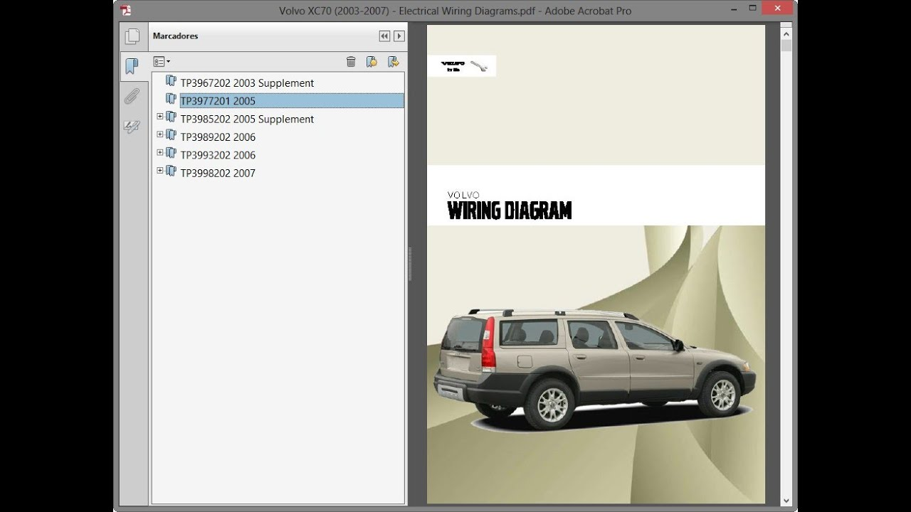 volvo xc70 (2003-2007) - electrical wiring diagrams - youtube  youtube