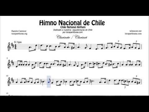 Chile National Anthem Sheet Music for Clarinet