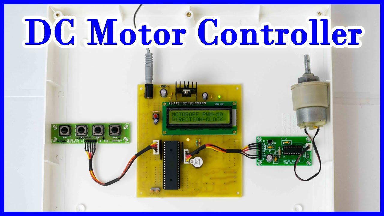 How To Make A Dc Motor Controller Using 8051 Microcontroller Youtube Digital Clock Lcd Display Mini Project