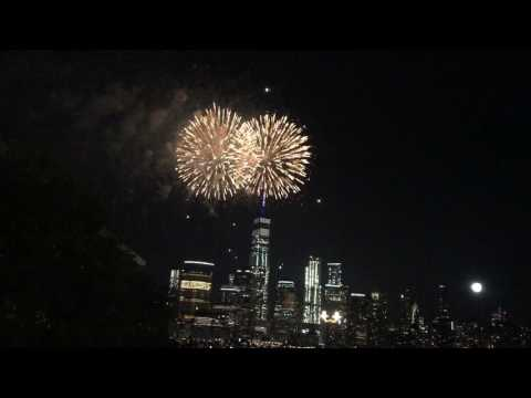 Jersey City Fire Works(Full Video) at Exchange Place - 4th July 2017