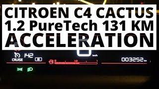Citroen C4 Cactus 1.2 PureTech 131 KM (MT) - acceleration 0-100 km/h