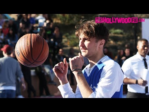 Anwar Hadid Plays In The Chacha The Wave Vs. Jamie Foxx Celebrity Basketball Game 2.17.18