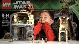 LEGO RANCOR PIT Lego Star Wars Set 75005 - Time-lapse Build, Unboxing & Review in 1080p HD