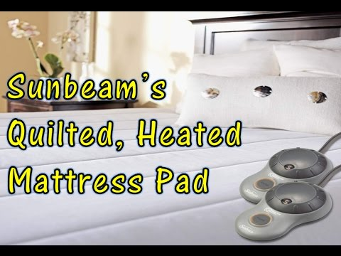 Sunbeam's Quilted HEATED Mattress Pad Unboxing & Review