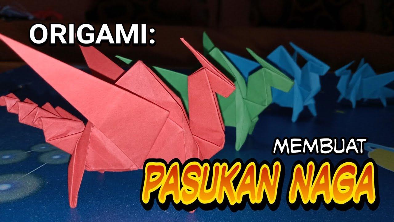 Origami Naga Bagaimana Membuat Naga Dengan Mudah How To Make Dragon Step By Step Plant Craft Diy Youtube Origami Naga Youtube