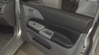 Обшивка дверных карт натуральной кожей в Mitsubishi Lancer 9