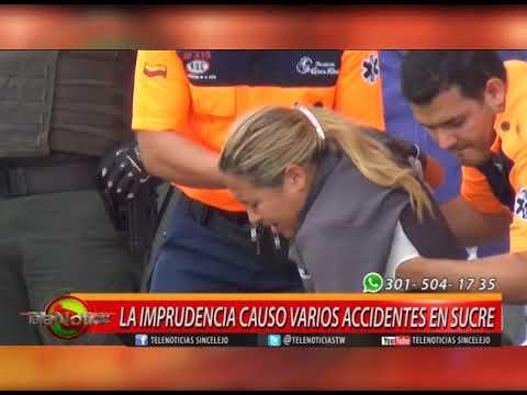 LA IMPRUDENCIA CAUSO VARIOS ACCIDENTES EN SUCRE.