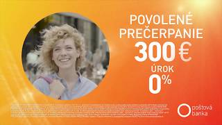Užitočný účet - Povolené prečerpanie 300€ za 0% úrok