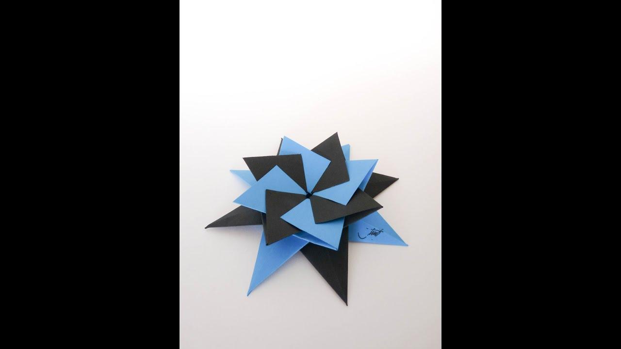 Como hacer una estrella modular de origami origami star - Origami de una estrella ...