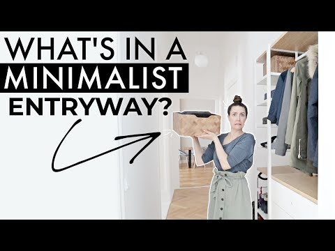 What's in a Minimalist Entryway? 🤔 » Small Entryway Organization Tips + IKEA HACK = Tons of SPACE