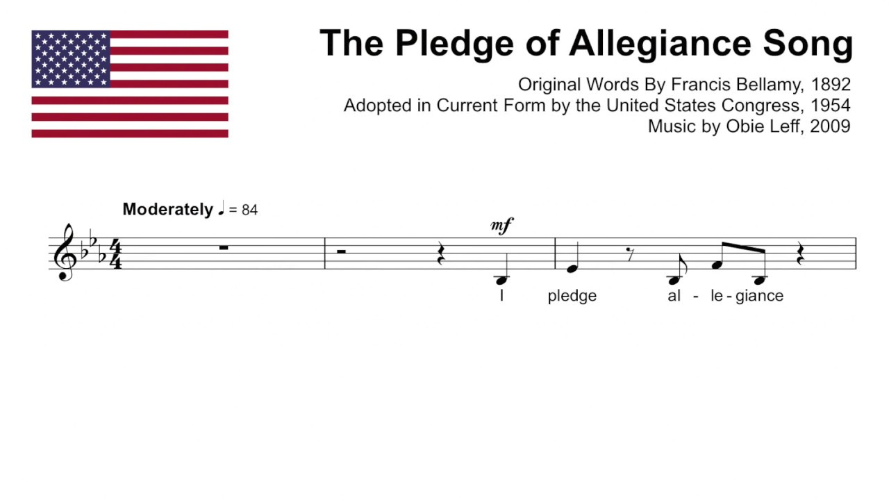 The Pledge Of Allegiance Song Instrumental With Lyrics Youtube