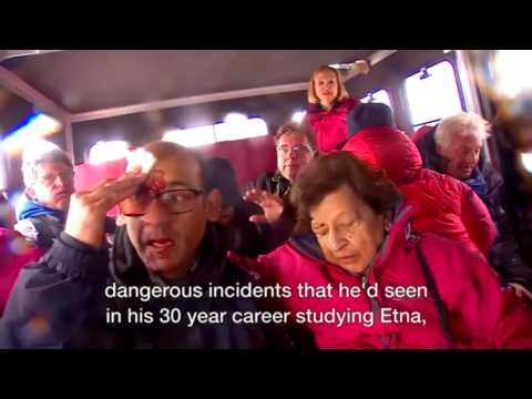 Moment BBC crew caught in Mount Etna eruption