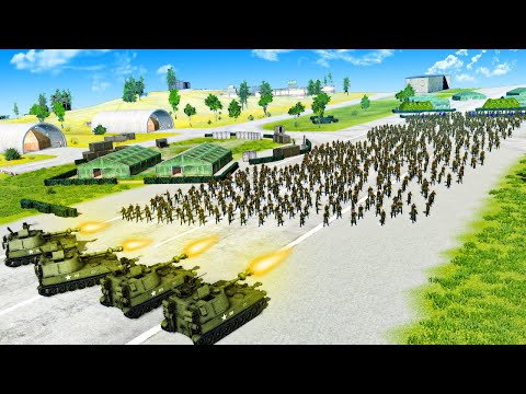 USA Attacks a Massive Russian Base to Win the Cold War in Men of War 2! |