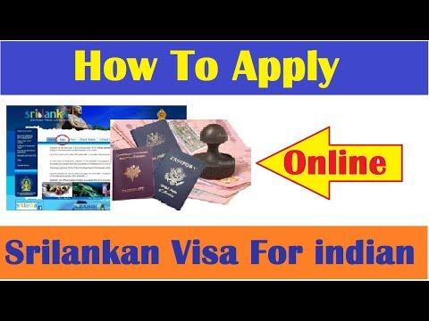 How To Apply Srilanka E visa for Indian Online ? Hindi Videl