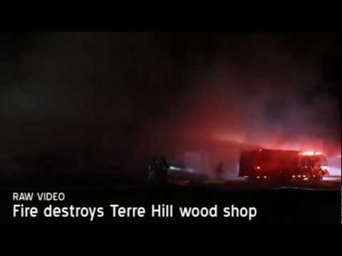 Wood shop burns in Terre Hill [raw video]