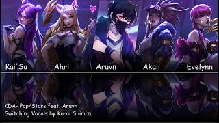 switching vocals kda pop stars feat aruvn