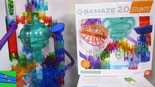 Q-Ba-Maze 2.0 Ultimate Stunt Set, Building Blocks Toys To Create Fun Marble Mazes And Marble Runs!