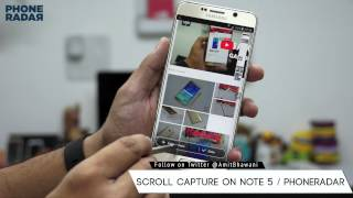 How To Take Scroll Capture Screenshot on Galaxy Note 5