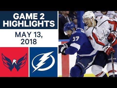 NHL Highlights | Capitals vs. Lightning, Game 2 - May 13, 2018