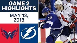 NHL Highlights | Capitals vs. Lightning, Game 2 - May 13, 2018