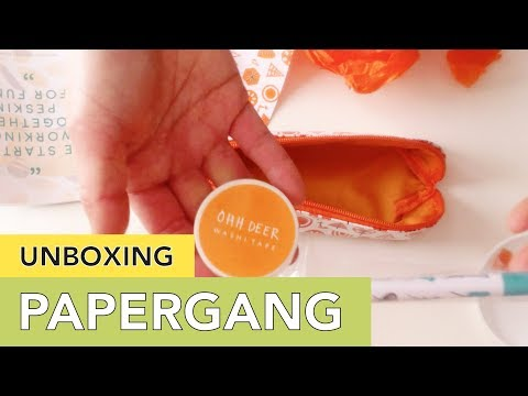 Unboxing Papergang - Stationery Subscription Box