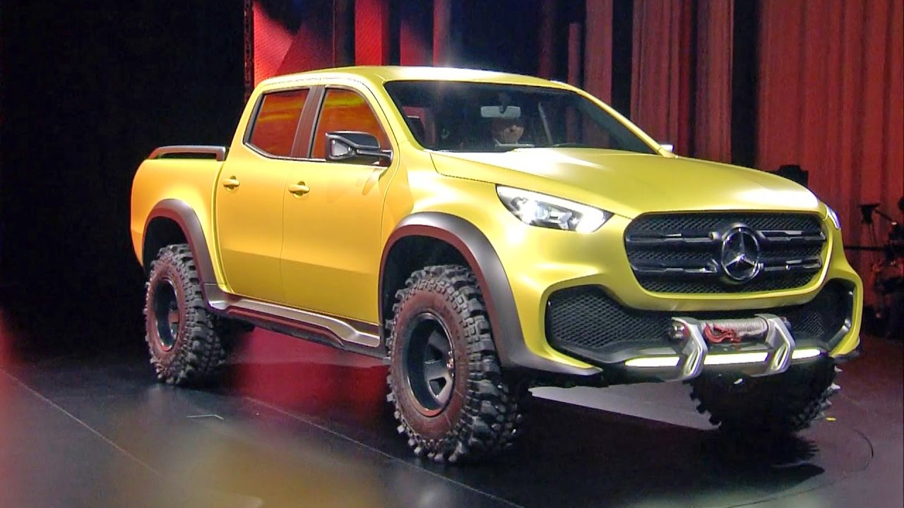 Mercedes x class pickup concept world premiere youtube for Mercedes benz x class price