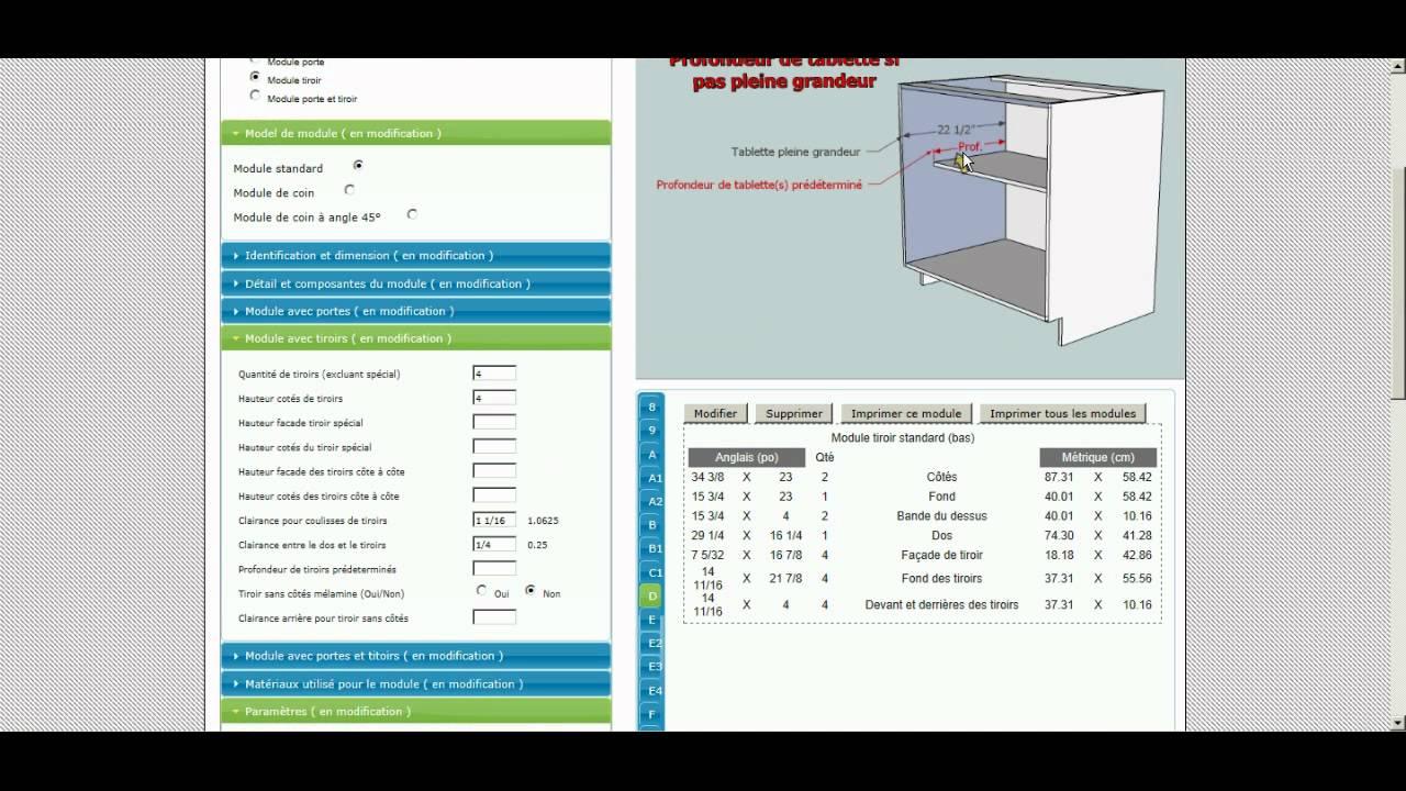 Vid o 1 comment cr er et param trer un caisson de cuisine for Logiciel conception cuisine 3d professionnel