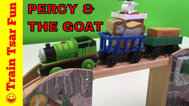 Percy And The Little Goat Thomas Wooden Railway Train Set Play With Trains