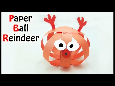 How to Make a Paper Reindeer for Christmas   Origami Paper Ball Reindeer