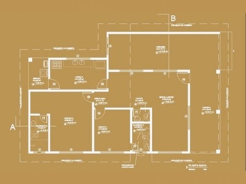 Desenho de Planta Baixa - Parte 6 - Textos e Cotas