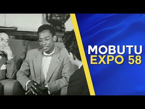 Mobutu parle de son métier de journaliste au Congo Belge à l'exposition universelle de 1958.