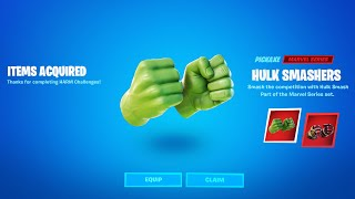 HOW TO GET THE HULK SMASHERS PICKAXE in Fortnite Battle Royale!