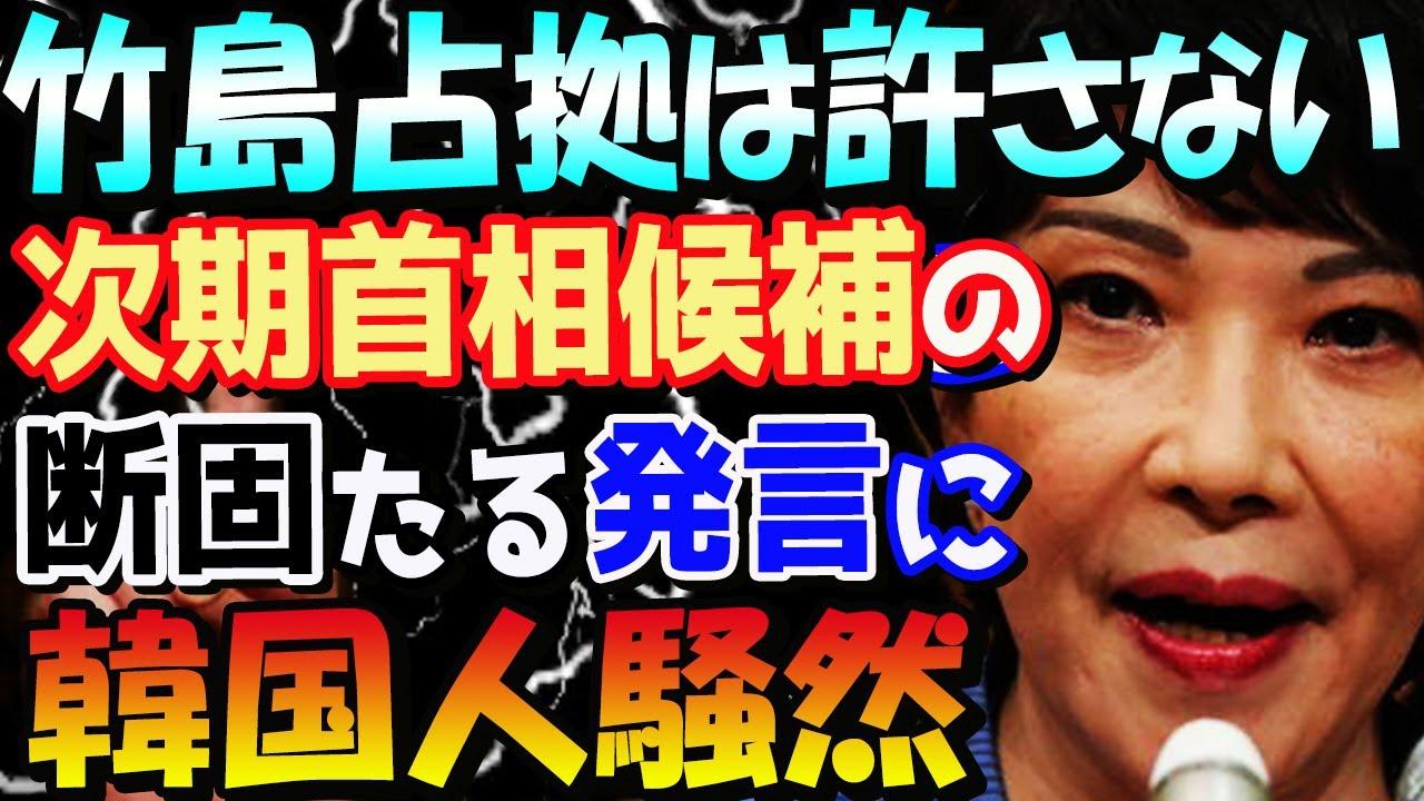 【韓国の反応】日本の次期首相候補・高市早苗氏の「私が首相になれば竹島にはこれ以上手出しさせない」発言に韓国人困惑「次期首相は枝野幸男に。彼なら独島どころか対馬や隠岐まで気前よくくれるはず」
