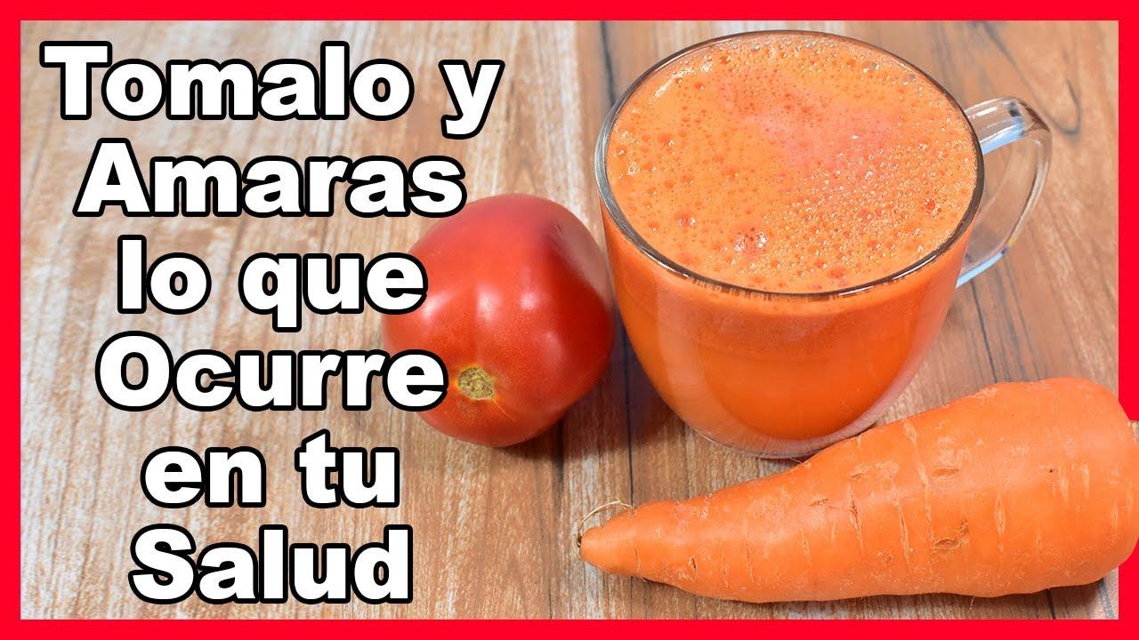Mi Abuela me dijo que tome el jugo de Zanahoria y Tomate y no dejo de darle las gracias