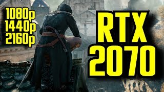 Assassins Creed Unity RTX 2070 OC | 1080p - 1440p & (4K) 2160p | FRAME-RATE TEST